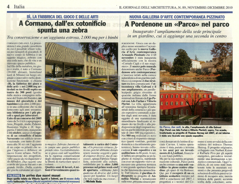 Press sharestudio architettura design illuminotecnica for Giornale architettura